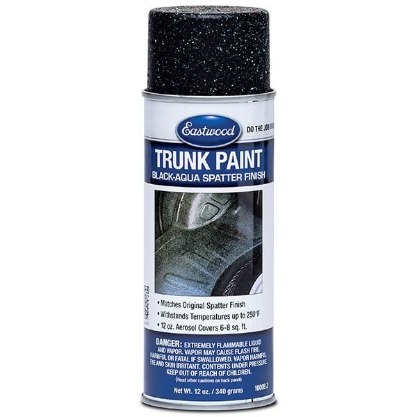 Eastwood Trunk / Boot Paint Black and Aqua Aerosol (340g)
