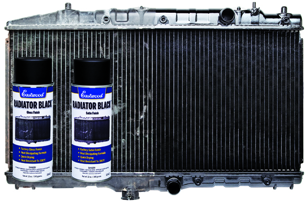Eastwood Radiator Black Gloss Finish Aerosol 340g heat resistant specifically formulated for your radiator heater core and air conditioning condenser