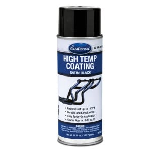 Eastwood Satin Black High Temperature Paint Aerosol (333g)