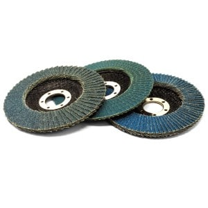 Set of 3 115mm Flap Discs (40, 80, 120 Grit)