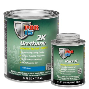 POR-15 2K Urethane Industrial Top Coat Blue