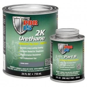 POR15 2K Urethane DARK GREY - Two Component Coating (aka Hardnose) (US Quart, 946ml)