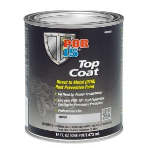 POR15 Top Coat Silver Paint (Stirling Silver) US Pint (473ml)