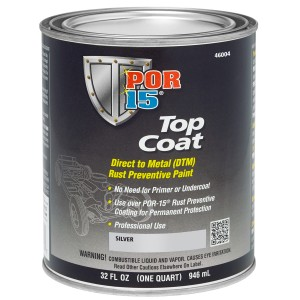 POR15 Top Coat Silver Paint (Stirling Silver) US Quart (946ml)