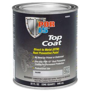 POR15 Top Coat Silver Paint (Stirling Silver) US Quart (946ml)