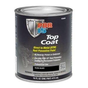 POR15 Top Coat Gloss Black 473ml (US Pint)