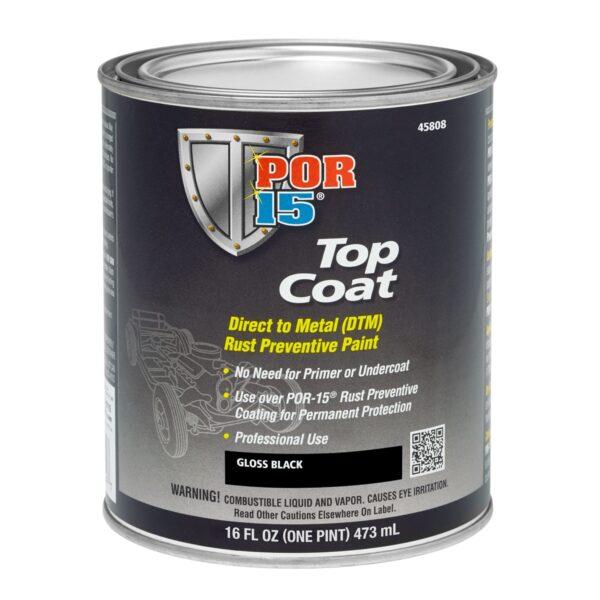 POR15 Top Coat Gloss Black 473ml (US Pint)
