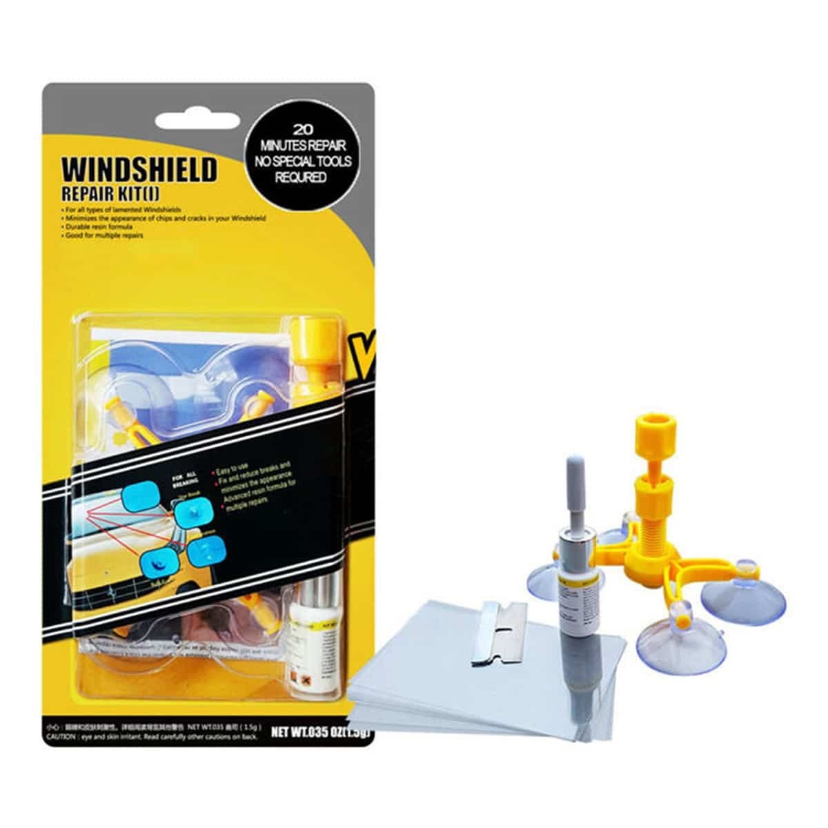 Windscreen Glass Chip Repair Kit Windshield Saver