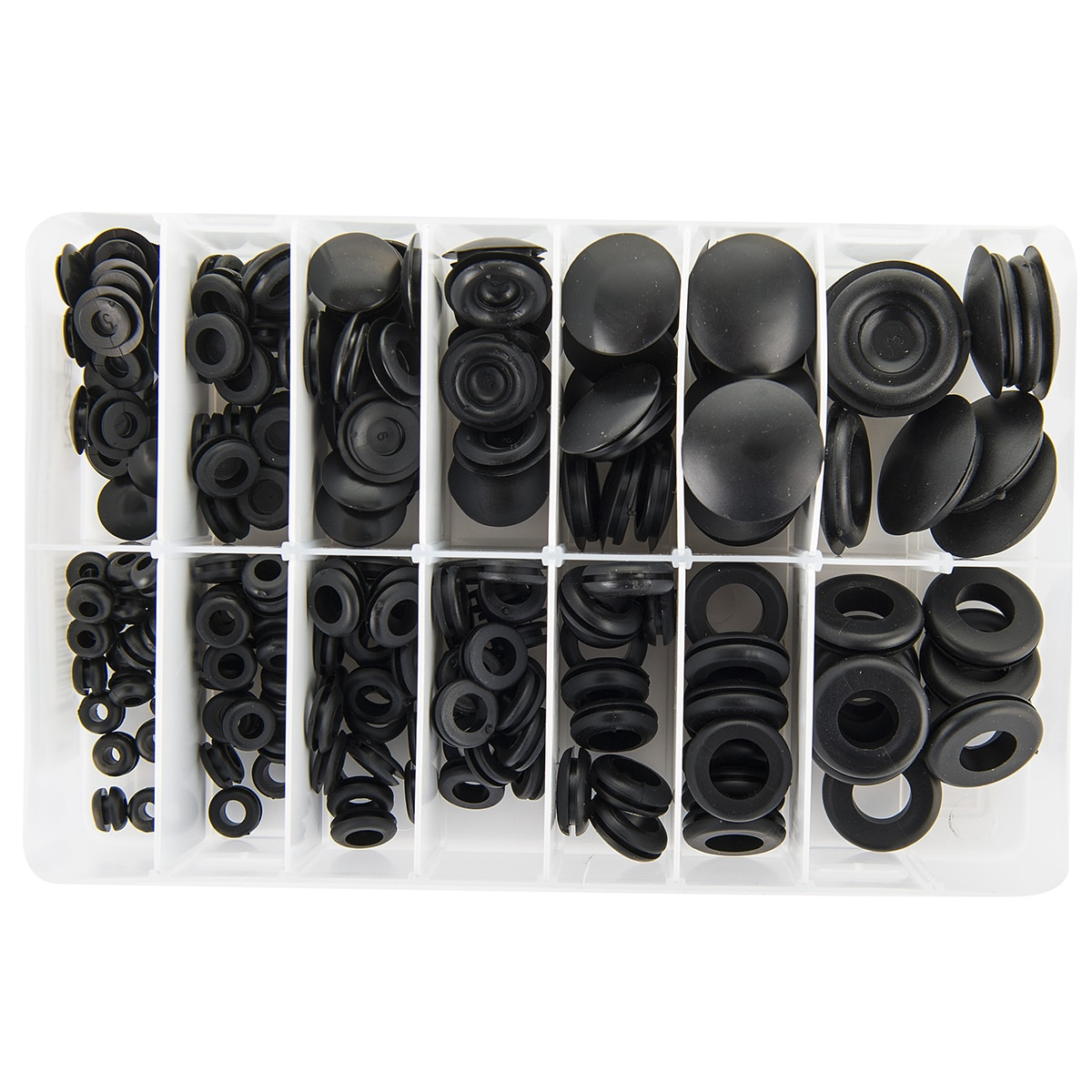 Box of Blanking and Wiring Grommets (240 pieces) Wiring Grommets on