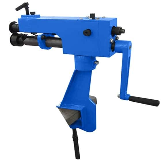 Bench Clamp Mounted Swage Machine (w/ Jenny, Wiring & Swaging Wheels)-0