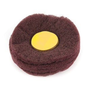 "4"" Fine Satinising Mop brushed satin finish with these 4"" section abrasive nylon lap wheels"