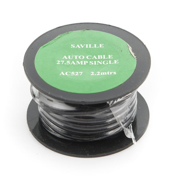 Black 27amp Cable (2.2 metres)