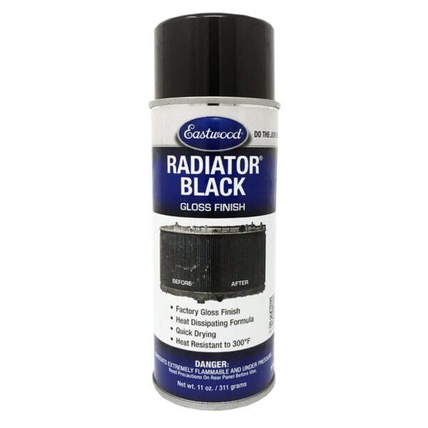 Eastwood Radiator Gloss Black Aerosol (340g)