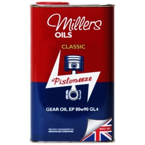 Millers Oils Pistoneeze Classic Gear Oil EP 80w90 GL4 (1L)