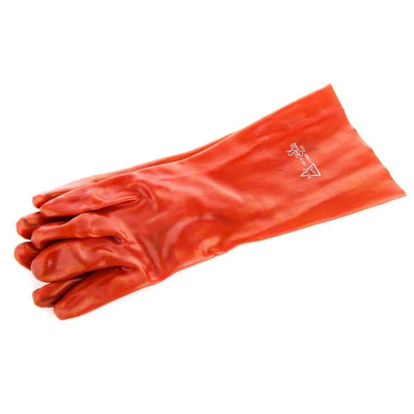 Red PVC Long Gloves / Gauntlets
