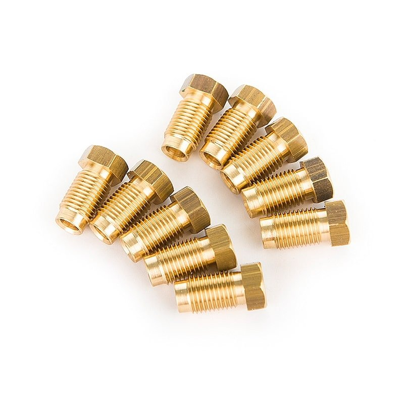 Male 3/8-inch Brass Brake Pipe Fittings for 3/16 Pipe (10pcs)