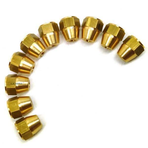 Female 3/8-inch Brass Brake Pipe Fittings (10pcs)