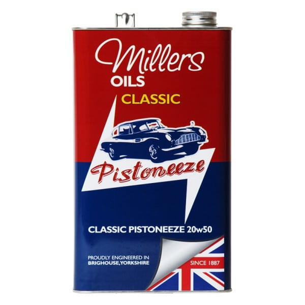 Millers Oils Classic Pistoneeze 20w50 Multigrade Engine Oil (5L)