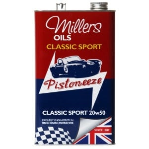 Millers Oils Pistoneeze Classic Sport 20w50 (5L) - Multigrade Engine Oil