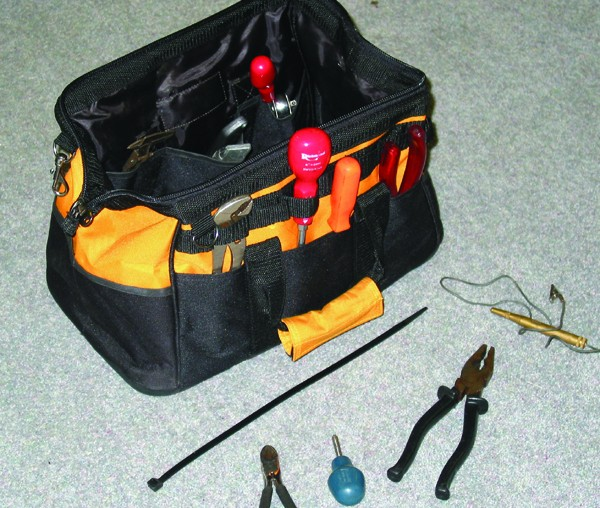 Hard Base Tool Bag with Organiser (Extra Wide Opening)