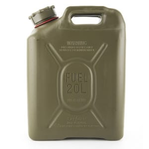 Jerry Plastic Fuel Can (20L - Petrol)