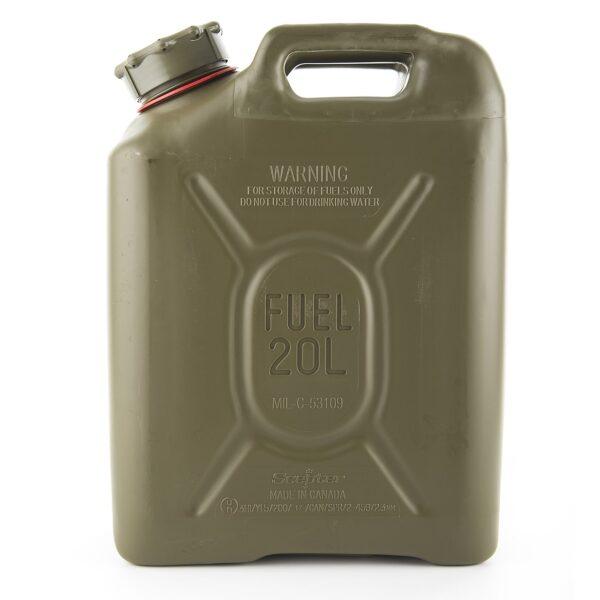 Jerry Plastic Fuel Can (20L - Petrol)