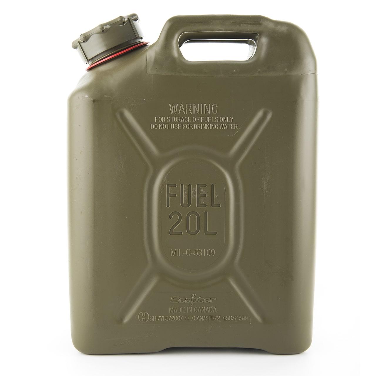 Plastic Gas Cans >> Sceptre Us Mil Spec Jerry Plastic Fuel Can 20l Petrol
