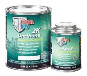 POR15 2K Urethane BLACK - Two Component Coating (aka Hardnose) (US Quart, 946ml)-0