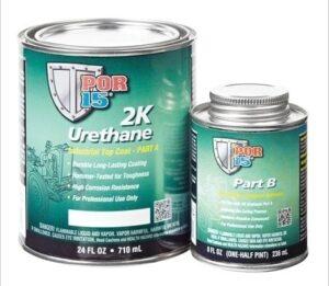 POR15 2K Urethane BLACK - Two Component Coating (aka Hardnose) (US Quart, 946ml)-0