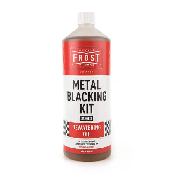 Extra Dewatering Oil for Metal Blacking Kit (Brown, 1 litre)