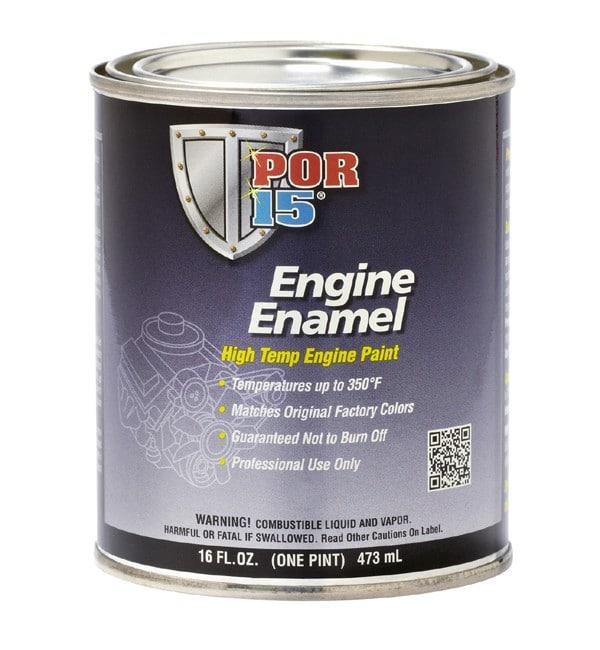 POR15 Black Engine Enamel Paint (473ml)