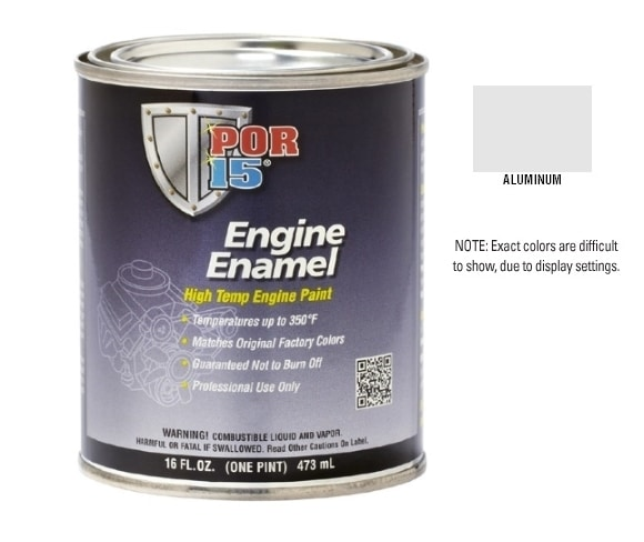 POR15 Aluminium Engine Enamel Paint (473ml)-0