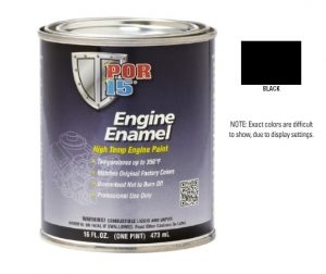 POR15 Black Engine Enamel Paint (473ml)-0