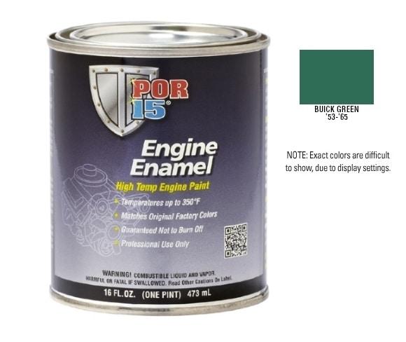 POR15 Buick Green Engine Enamel Paint (473ml)-0