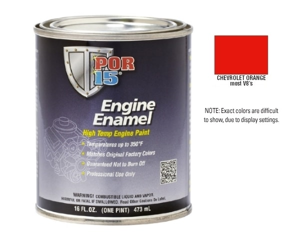 POR15 Chevy / Chevrolet Orange Engine Enamel Paint (473ml)-0
