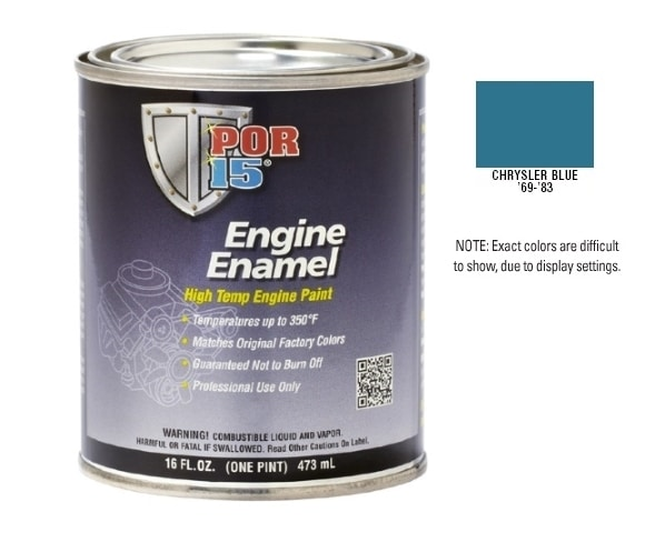POR15 Chrysler Blue Engine Enamel Paint (473ml)-0