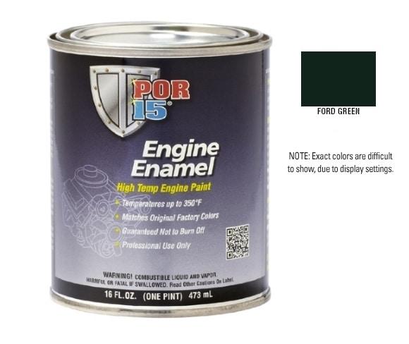 POR15 Ford Green Engine Enamel Paint (473ml)-0