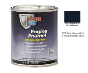 POR15 Ford Medium Blue Engine Enamel Paint (473ml)-0