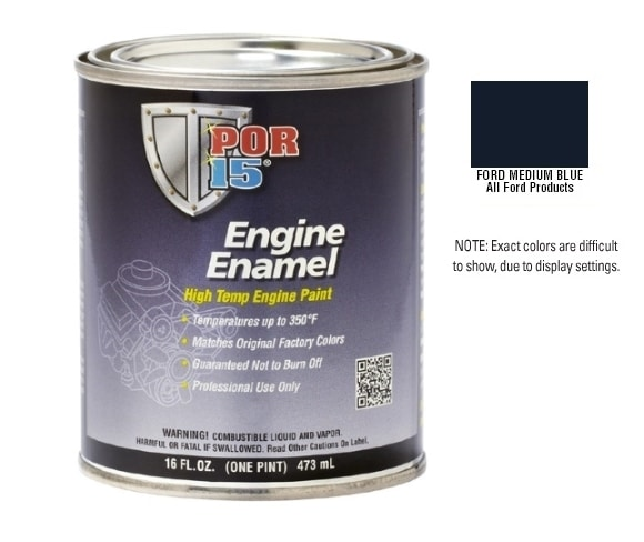 POR15 Ford Medium Blue Engine Enamel Paint (473ml)-0