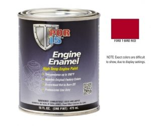 POR15 Classic Ford T Bird Red Engine Enamel Paint (473ml)-0