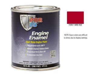 POR15 Classic Ford T Bird Red Engine Enamel Paint (473ml)-0