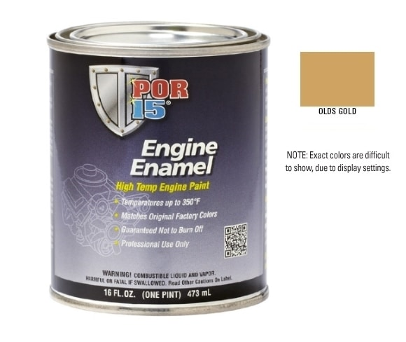 POR15 Olds Gold Engine Enamel Paint (473ml)-0