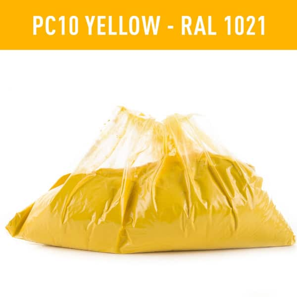 Yellow Hot coat Powder Coating RAL 1021
