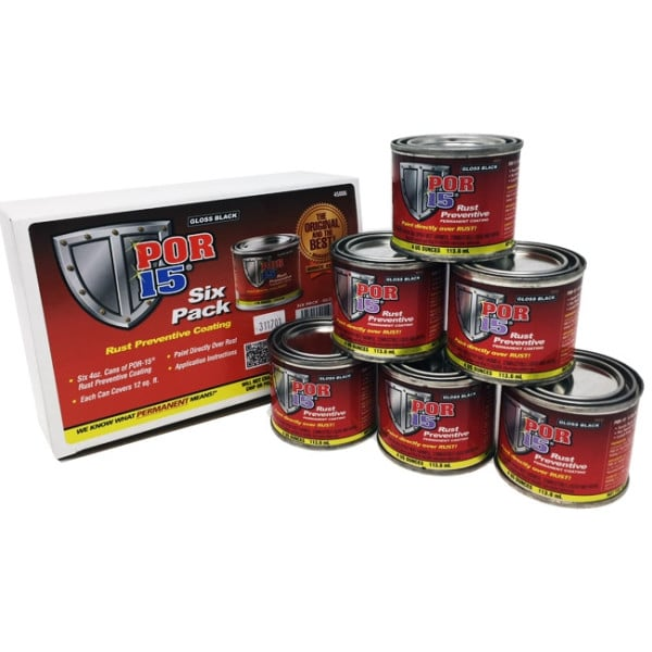 POR-15 6-Pack Black Rust Preventative Paint Kit