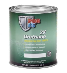 POR15 2K Urethane WHITE - Two Component Coating (aka Whitecote) (US Quart, 946ml)