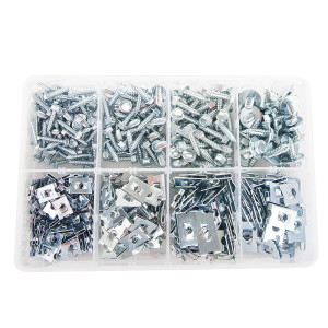 Sheet Metal Screws and J Nuts (400 pieces)