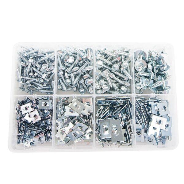Sheet Metal Screws and J Nuts (400 pieces)