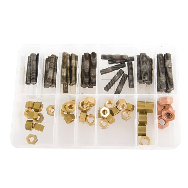 Brass Manifold Studs and Nuts (80 Pieces)