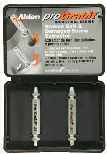 Grabit Broken Bolt and Damaged Screw Extractor Kit (2pc / Size 4 - 10)