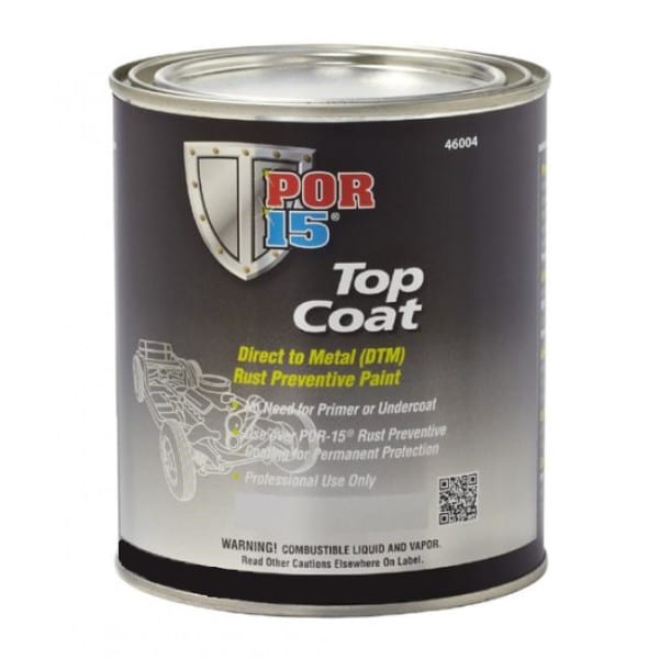 POR15 Top Coat Chassis Coat Black 946ml (US Quart)